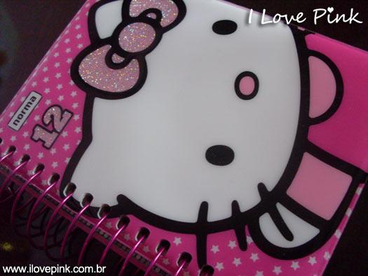 Agenda cor de rosa: Hello Kitty - capa