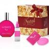 Presentes cor de rosa para o natal