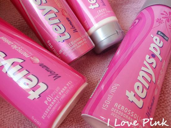 Linha Pink Tenys Pé Woman