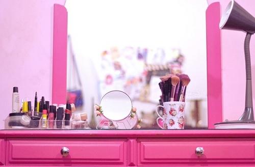penteadeira rosa