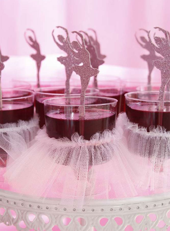 Ideias cor de rosa para festa com tema bailarina