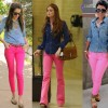 Como usar: calça rosa