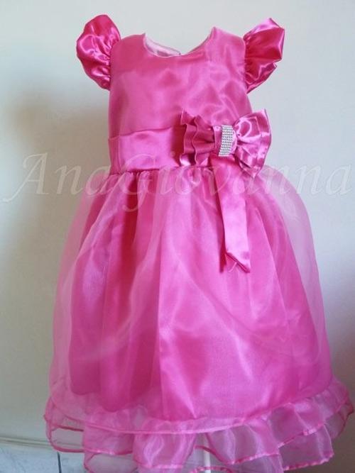 Vestidos de festa cor de rosa para meninas