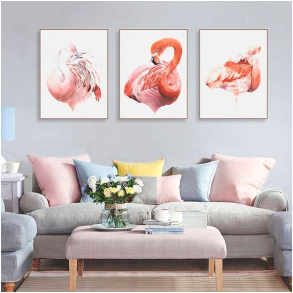 Tendência de decoração: Flamingos - quadros de flamingos