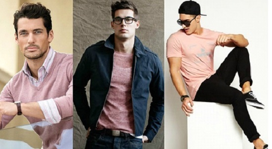 Roupas cor de rosa para homens